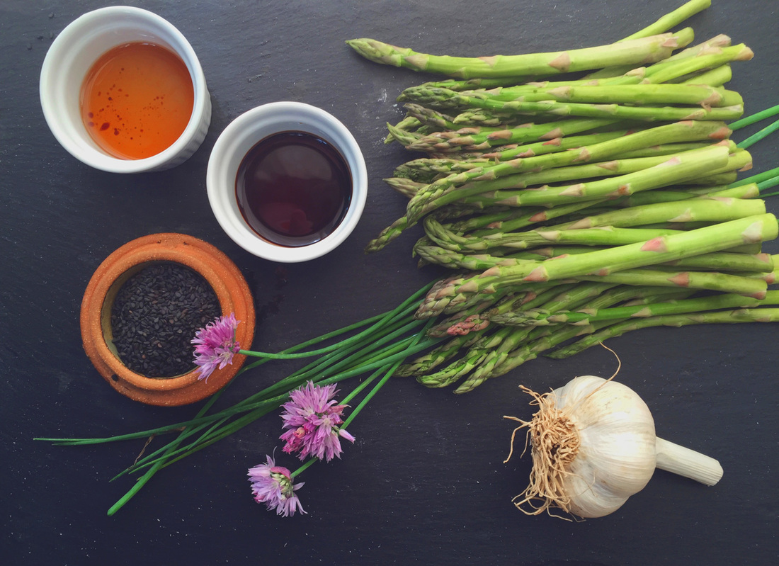 Chive Blossom Asparagus at WhollyRooted.com
