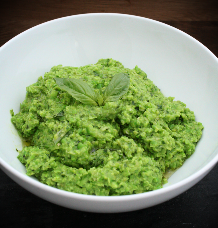 vegan pea pesto {wholly rooted}