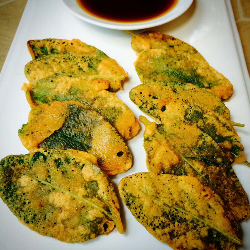 crispy pan fried sage leaves with coconut aminos {wholly rooted}