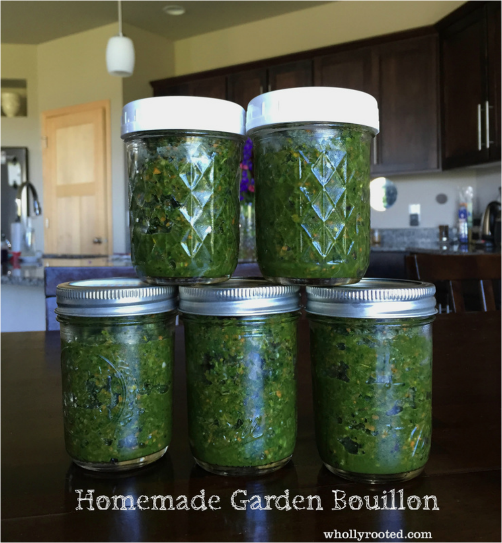 whollyrooted.com homemade bouillon from the garden