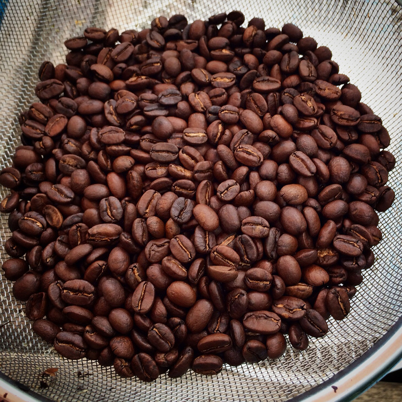 Home roasting coffee beans {wholly rooted}